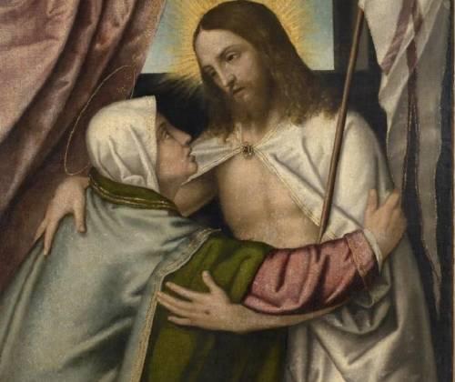 Marco Richiedei, l'incontro tra Gesù risorto e la Madonna