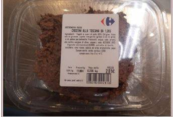 Presenza listeria: Carrefour ritira lotto crostini alla toscana
