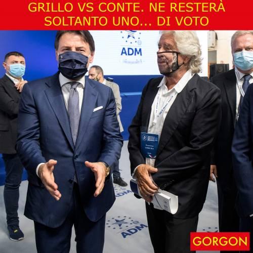 Ecco la satira del giorno. Grillo vs Conte