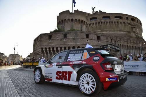 Il rally di Roma Capitale incanta alle Terme di Caracalla