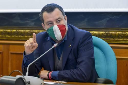 """Salvini: """"Letta e Conte non si trovano bene nel governo? Si facciano da parte"""""""
