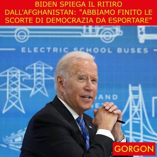 Ecco la satira del giorno. Biden spiega il ritiro