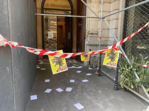 I no vax ci contestano: protesta sotto la sede de ilGiornale