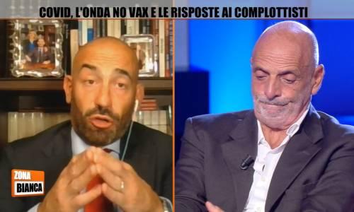 """""""Il vaccino non funziona"""", """"Fandonie"""". Scontro in tv tra Paolo Brosio e Bassetti"""