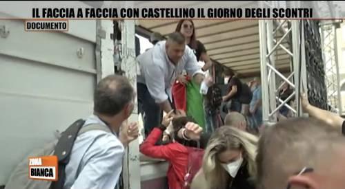 """""""Sei una buffona"""". Poi Castellino inveisce contro la giornalista"""