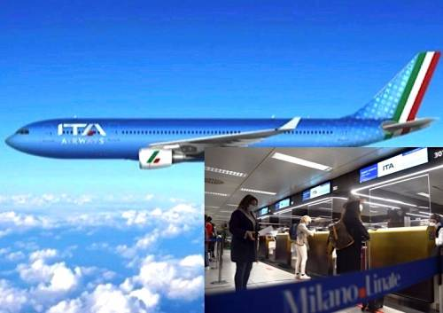 Ita Airways, gli aerei saranno azzurri con tricolore.