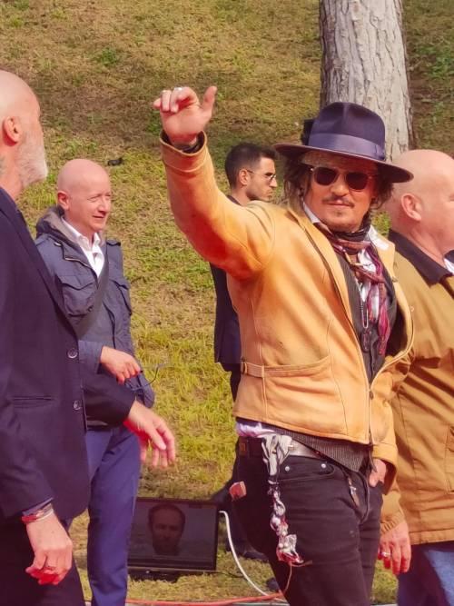 Johnny Depp a Roma presenta Puffins