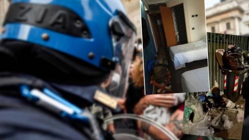 """L'alloggio vicino al campo rom. L'ira degli agenti: """"Trattati come bestie"""""""