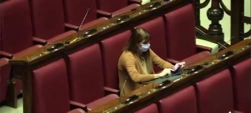 In Parlamento con la mascherina per proteggersi dal virus