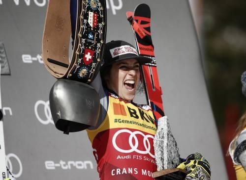 Federica Brignone vince la combinata a Crans Montana e vola in vetta alla classifica