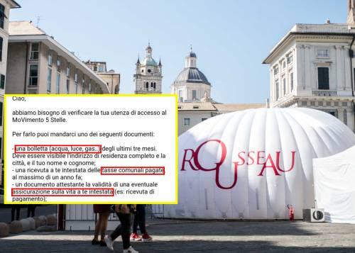 """La follia di Rousseau: """"Facci vedere bollette e tasse per verificare il profilo"""""""