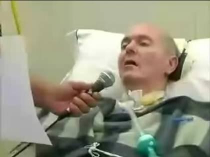 """Il biotestamento video  di un malato di Sla:  """"No alle cure forzate"""""""