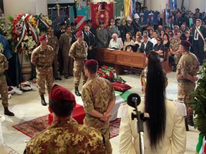 """Funerali di Di Lisio: """"In Afghanistan per la pace"""""""