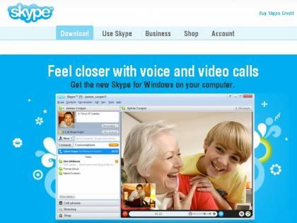Skype per web, anche in Italia