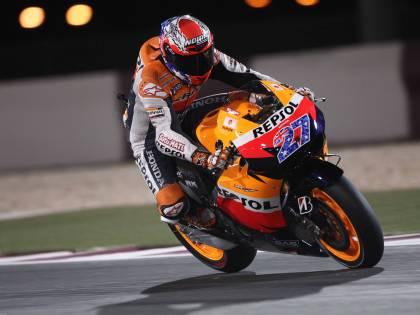 MotoGp: Stoner in pole  Dominio Honda, Rossi 9°