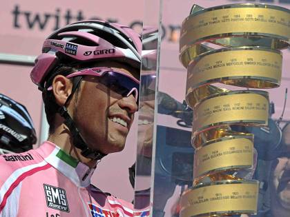 Giro, impresa di Kiryenka: trionfo sul Sestriere<br /> Scarponi stacca Nibali e gli rosicchia 22 secondi<br />