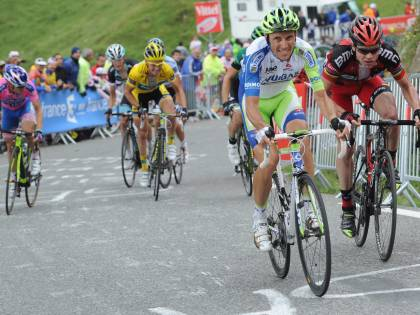 Al Tour de France<br /> ecco Basso e Cunego<br /> E Contador ora soffre