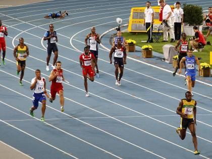 Ai mondiali di atletica <br /> oro e record nei 4x100<br /> per Bolt e la Giamaica