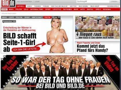 """La rivoluzione della Bild: """"Basta donne nude  nella nostra copertina"""""""