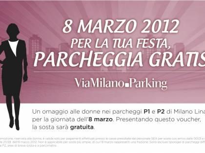 Linate festeggia le donne: parcheggio gratis l'8 marzo