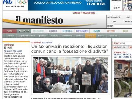 """""""Il Manifesto chiude""""<br />Il quotidiano comunista<br />era in edicola dal 1969"""
