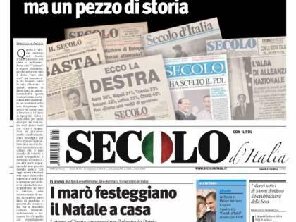 Da oggi il Secolo d'Italia solo online