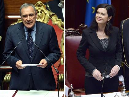 Senato, Pietro Grasso eletto presidente. Alla Camera vince la Boldrini