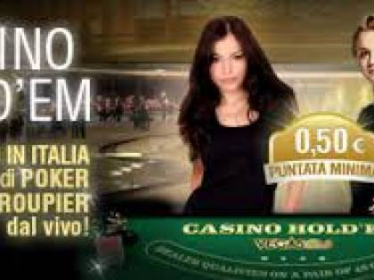 Casino Hold'em, il primo tavolo d'Italia