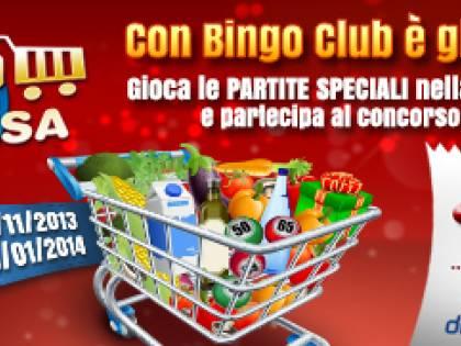 """Con Bingo Club è già Natale con il concorso """"Vinci la spesa per un anno"""""""