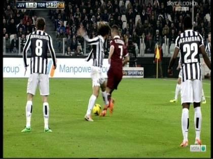 """Ventura: """"Era rigore"""": Conte: """"Sì, ci stava"""". E Buffon: """"Bravo arbitro"""""""