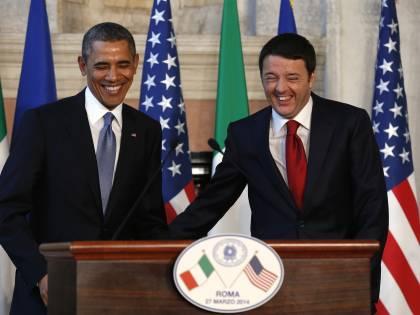 Renzi e Obama, la conferenza stampa
