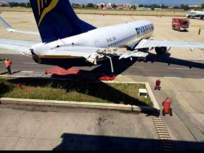 Ciampino, aereo in sosta urta un edificio dei Vigili
