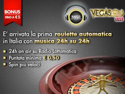 Su Vegas Club, Roulette Live senza dealer e musica dal vivo