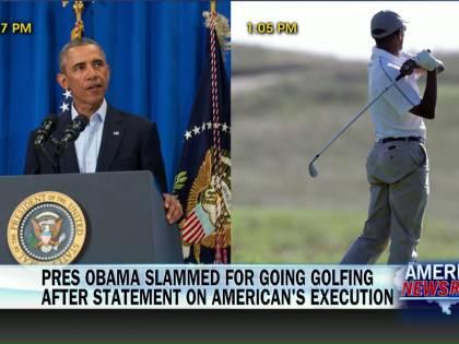 """Foley decapitato, Obama: """"Errore giocare a golf dopo il video choc"""""""