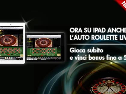 Lottomatica, arriva su iPad l'Auto Roulette