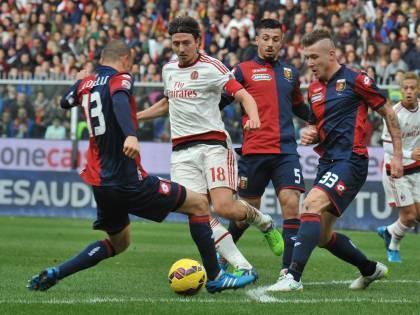 Il Genoa batte il Milan. Il Napoli pareggia con l'Empoli. La Lazio espuga il Tardini