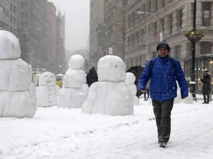 New York deserta per la tempesta