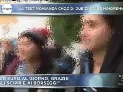 """Le ragazzine zingare: """"Facciamo mille euro al giorno e se muori tu non ci importa"""""""