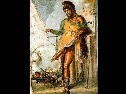 Antica malattia del pene su un affresco a Pompei