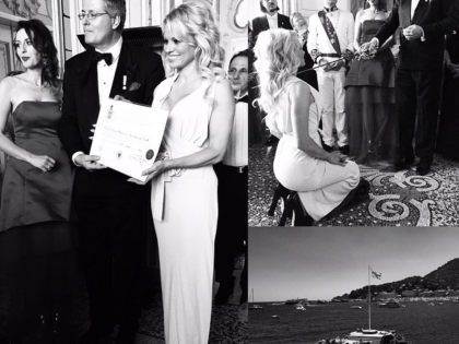 Pamela Anderson sexy e impegnata
