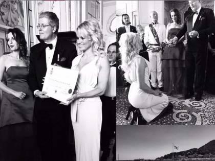 Pamela Anderson contessa in Liguria