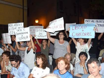 Giannini contestata ancora abbandona la Festa dell'Unità