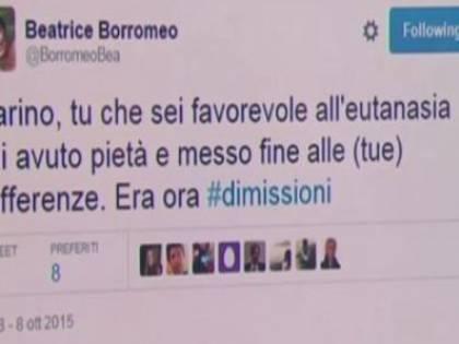 Il tweet di Beatrice Borromeo su Marino