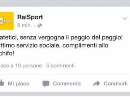 """RaiSport, il tweet misterioso: """"Senza vergogna. Complimenti allo schifo"""""""