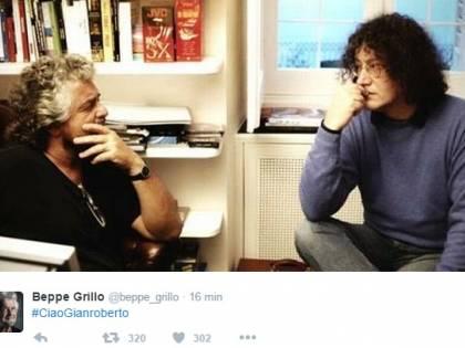 """""""Ciao Gianroberto, hai lottato fino all'ultimo"""": il ricordo di Grillo e M5s"""