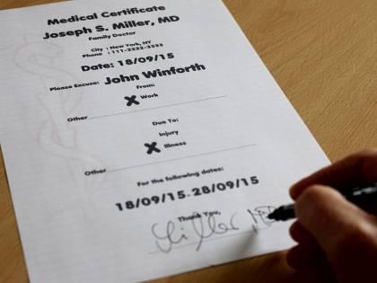 Permessi di lavoro immotivati: sito vende certificati medici falsi
