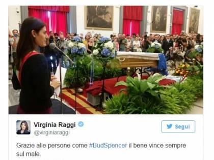 Virginia Raggi e il tweet sulla morte di Bud Spencer