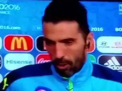 Le lacrime di Buffon dopo l'eliminazione ai rigori
