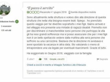 """""""Troppi disabili al villaggio"""": la recensione su Tripadvisor che indigna il web"""