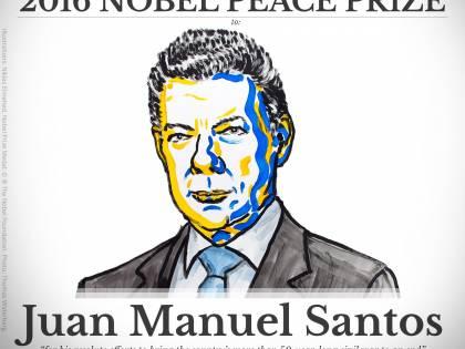 Il Nobel per la pace al presidente Santos